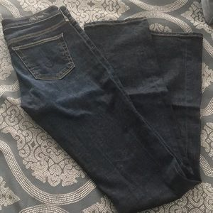Slim boot dark wash jeans